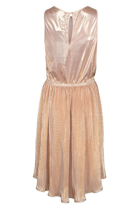 POP COPENHAGEN GOLDEN PLEATED DRESS