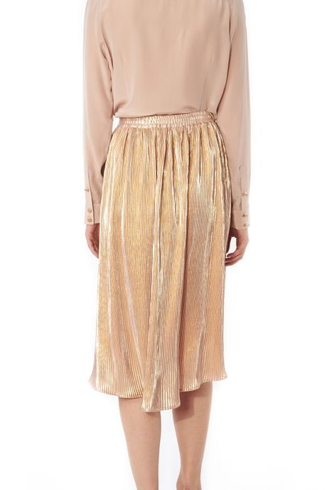 POP COPENHAGEN - GOLDEN PLEATED SKIRT