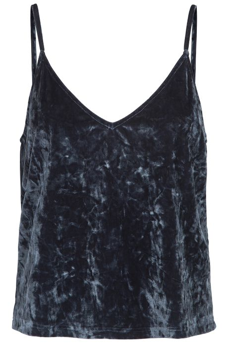 POP COPENHAGEN - PLUSH VELVET TOP
