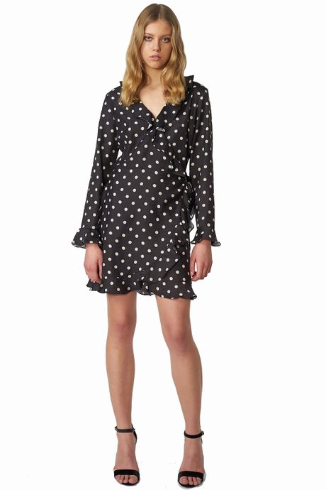 POP COPENHAGEN - POLKA DOT WRAP DRESS