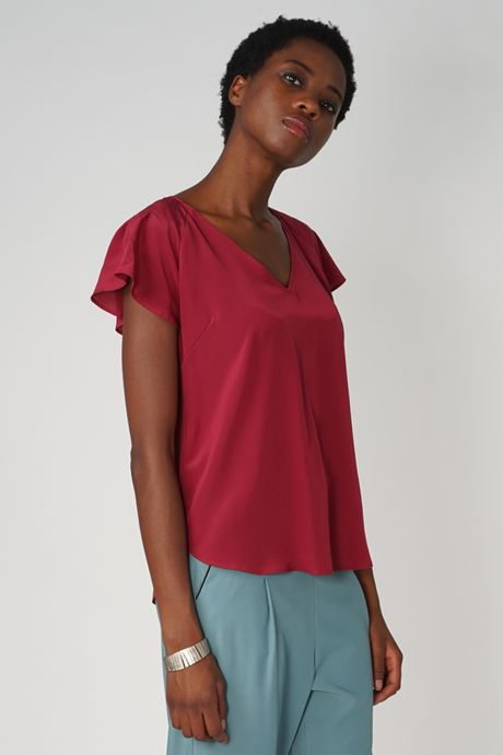 POP COPENHAGEN - SILK RAGLAN TOP