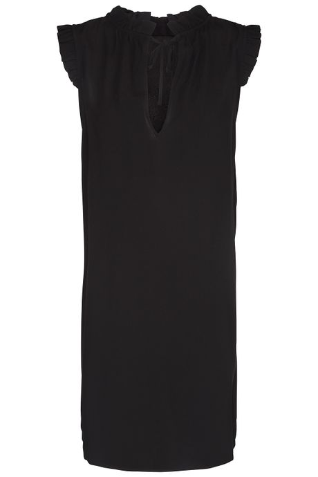 POP COPENHAGEN - SLEEVELESS RUFFLE DRESS