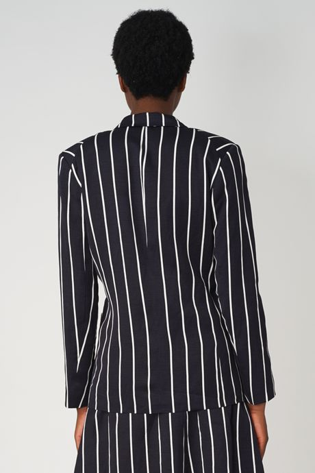POP COPENHAGEN - STRIPED LINEN BLAZER