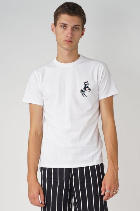 POP COPENHAGEN - UNICORN EMBROIDERY TEE