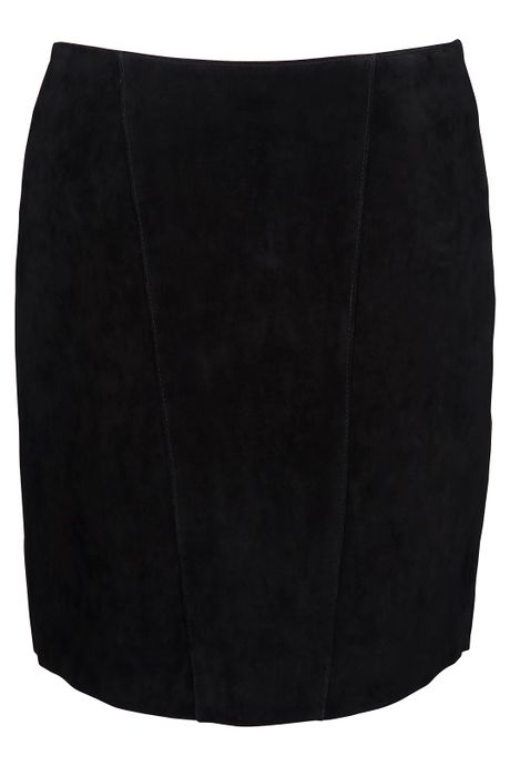 POP COPENHAGEN - WASHED SUEDE SKIRT