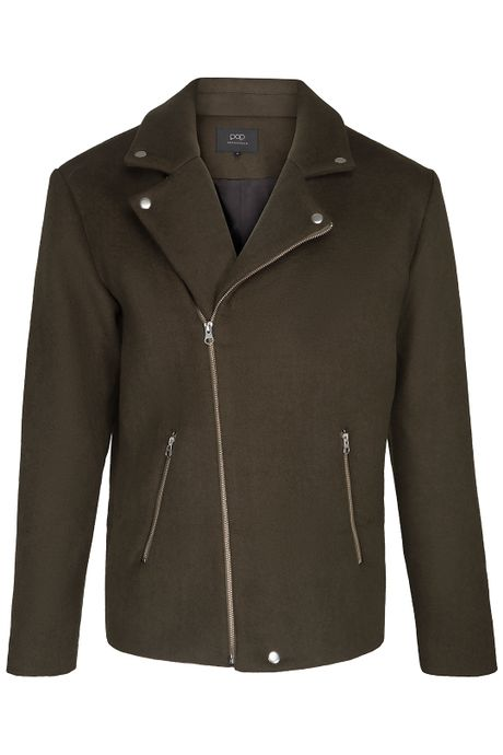 POP COPENHAGEN WOOL BIKER COAT