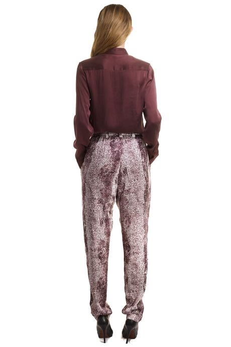 PRINTED TROUSERS  WINE