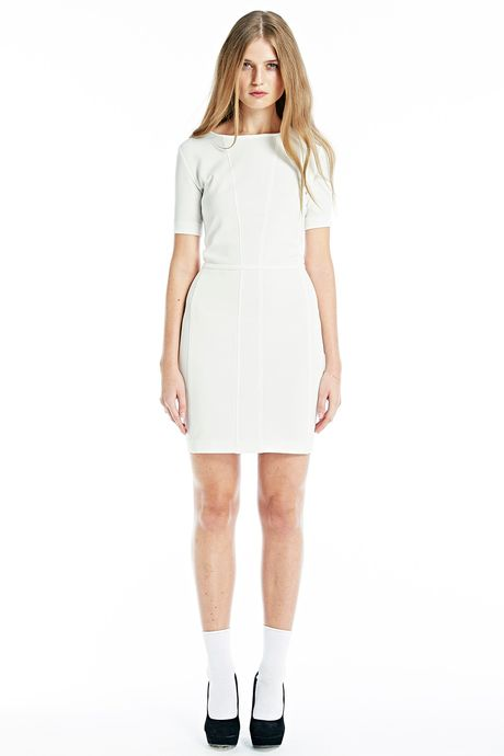 RAW BODYCON DRESS  WHITE