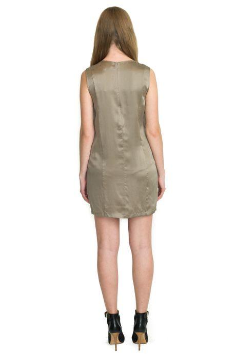 SAND WASHED SILK DRESS  CHAMPANGE