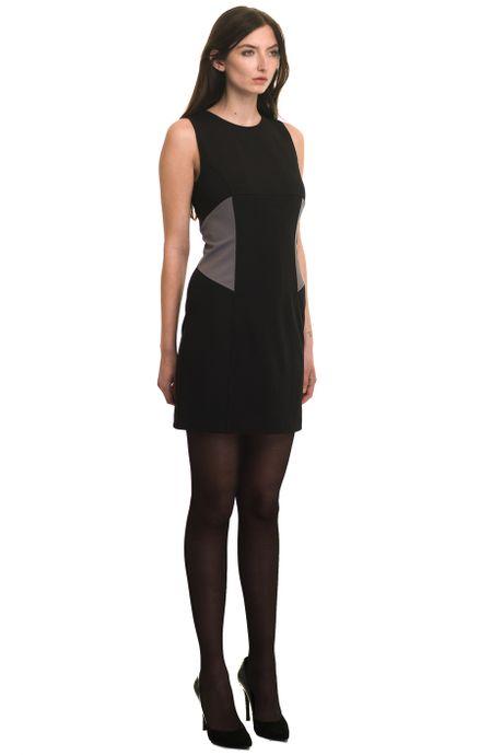 RAW DRESS WITH NEOPRENE INSERTS  BLACK/GREY