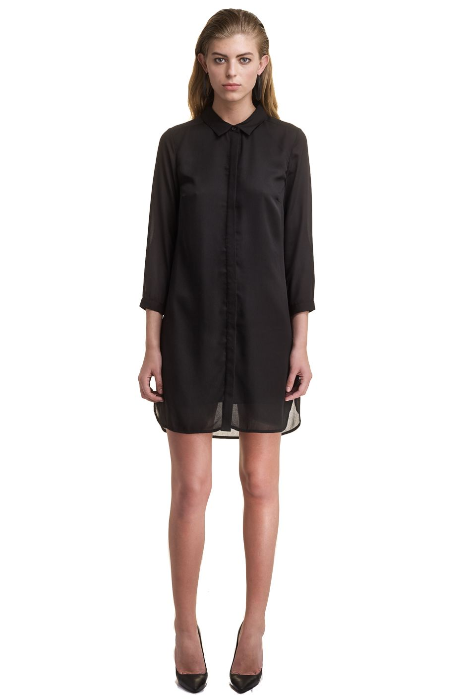 GEORGETTE SHIRT DRESS MAGNOLIA
