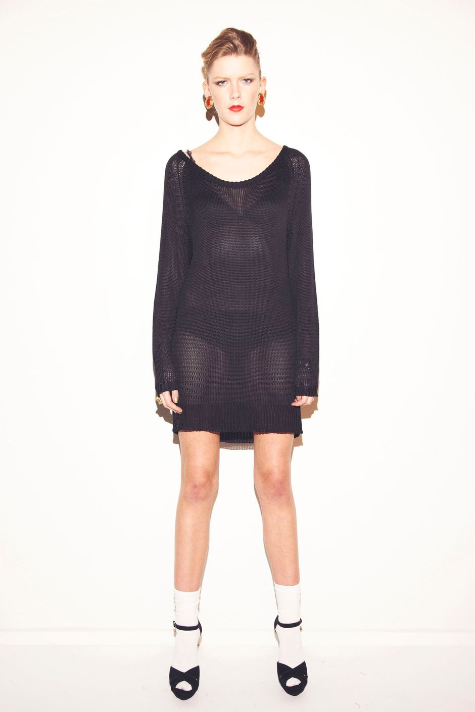 Loose knitted armour dress loose knitted armour dress black ombrellifo Choice Image