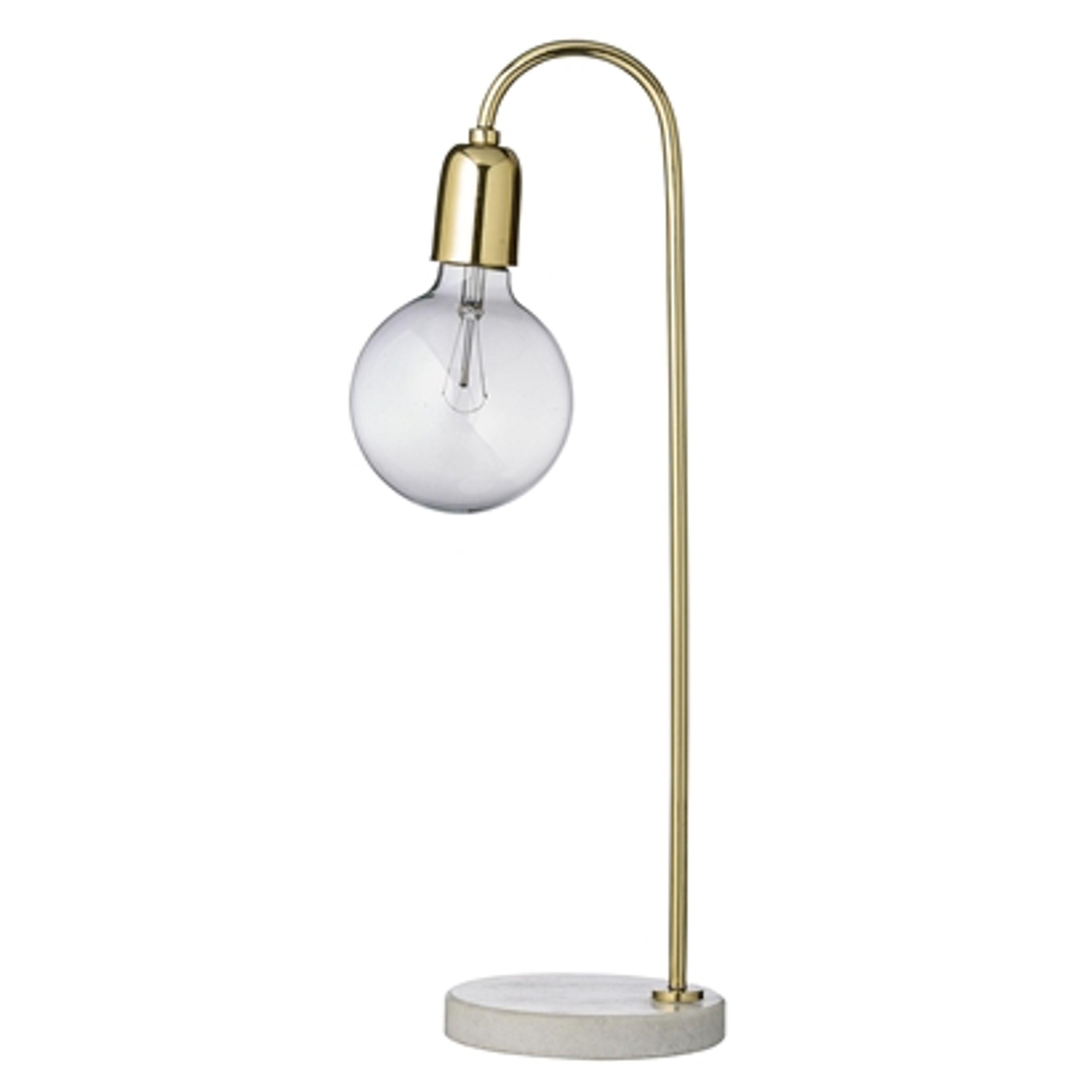Image of   Bordlampe Guld Marmor