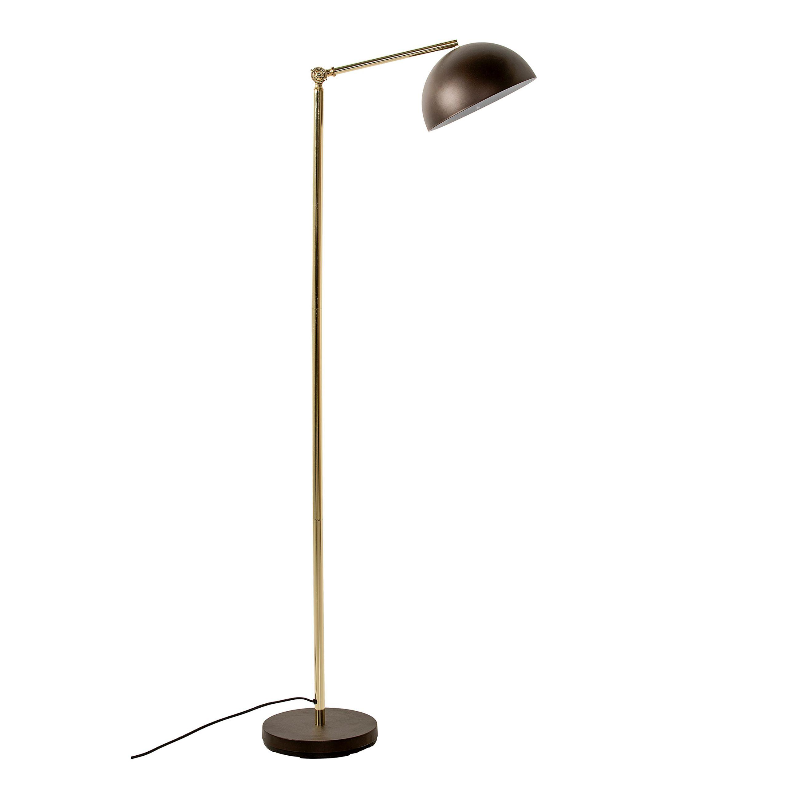 gulv lampe brun metal lampe bloomingville. Black Bedroom Furniture Sets. Home Design Ideas