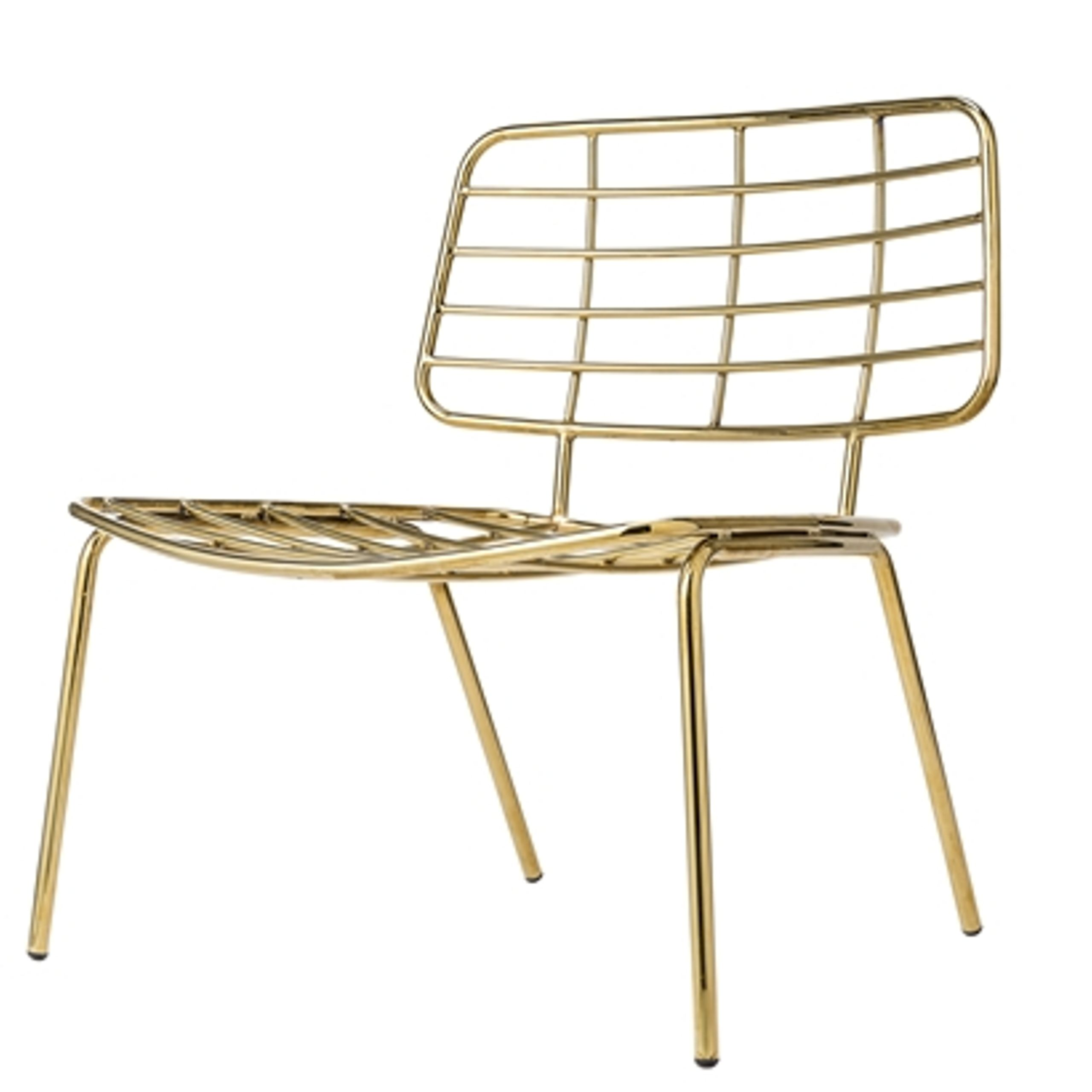 ... Bloomingville - Chair - Mesh Lounge Stol - Gold Metal ...  sc 1 st  Byflou.com & Mesh Lounge Stol - Chair - Bloomingville