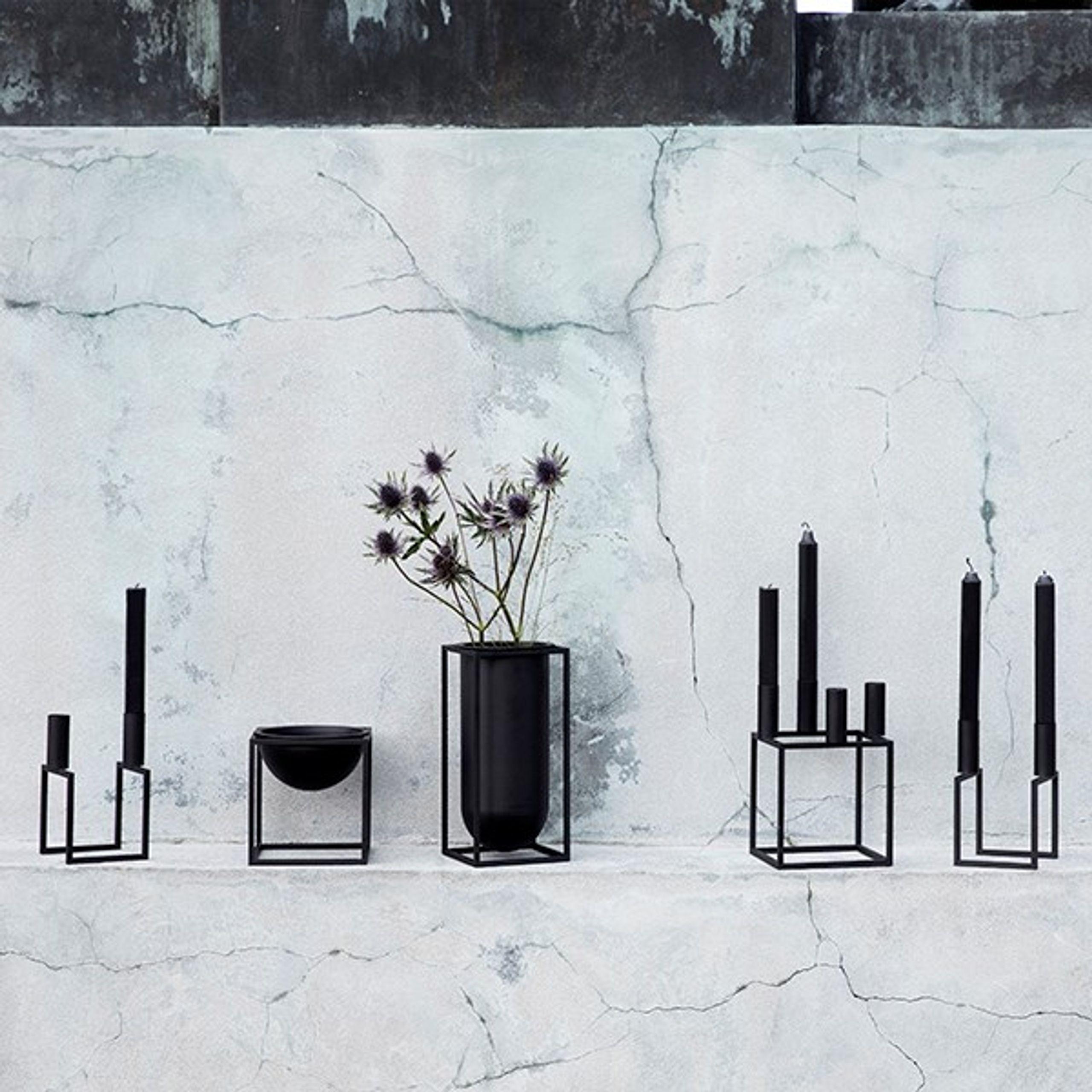 kubus vase vase by lassen. Black Bedroom Furniture Sets. Home Design Ideas
