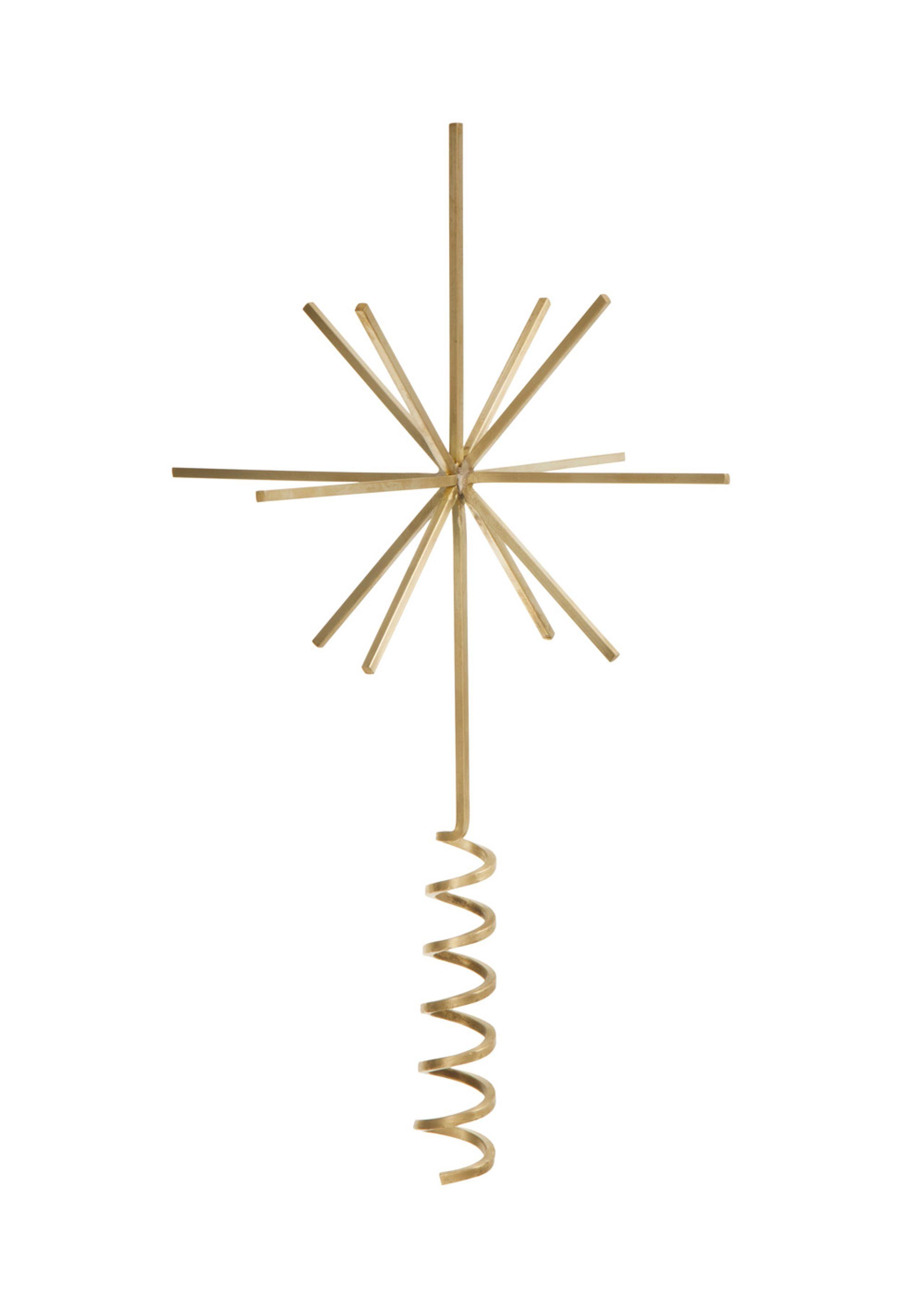 Image of   Messing juletræsstjerne