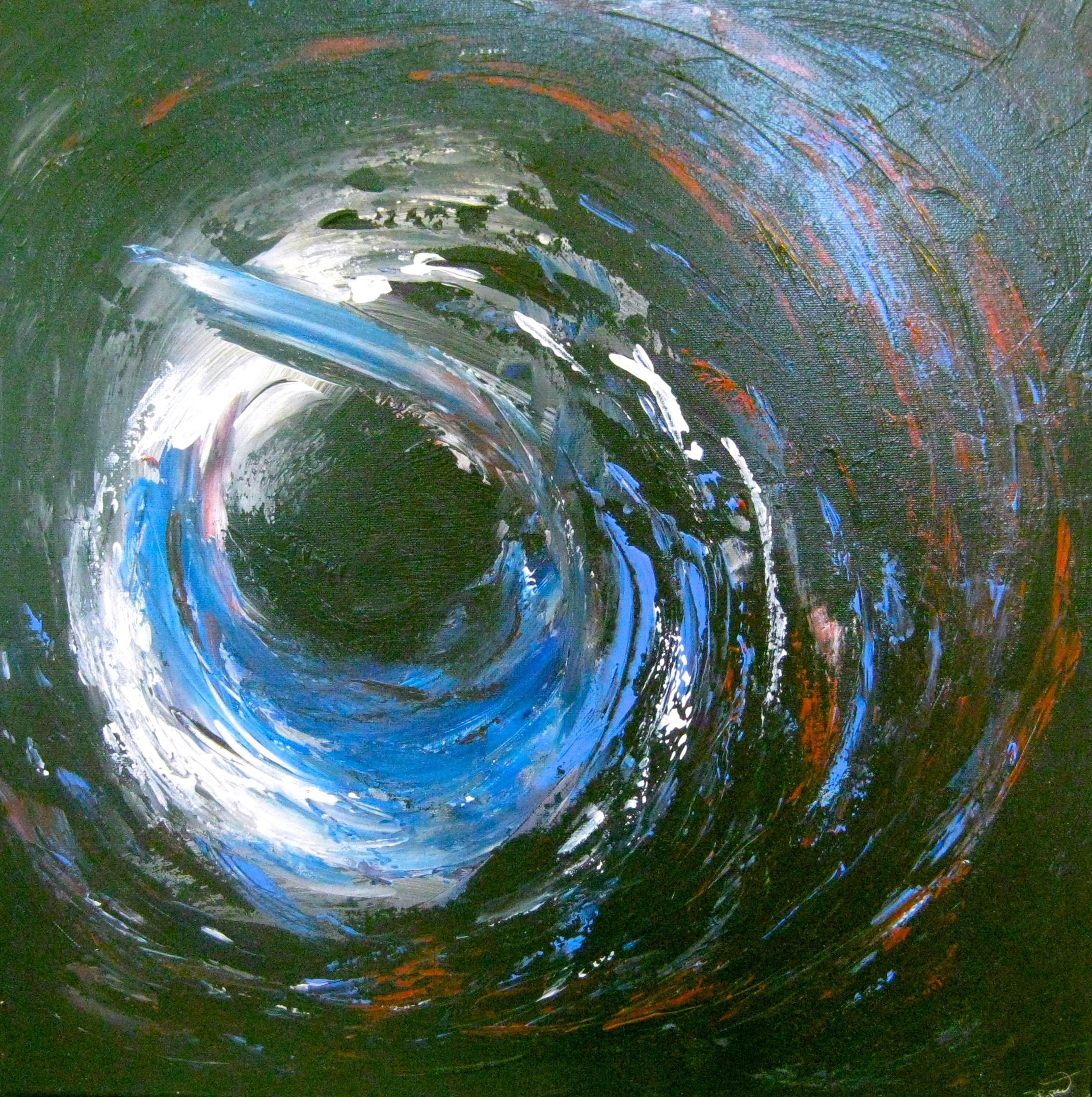 Image of   Black swirl
