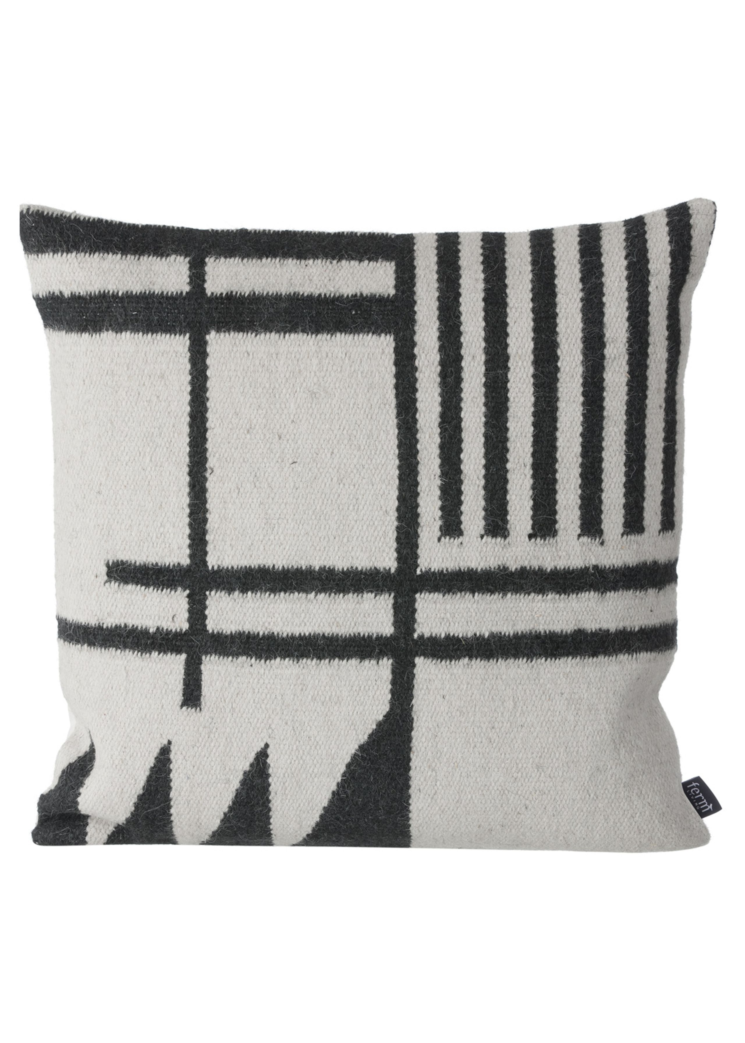 Image of   Kelim Cushion Black Lines