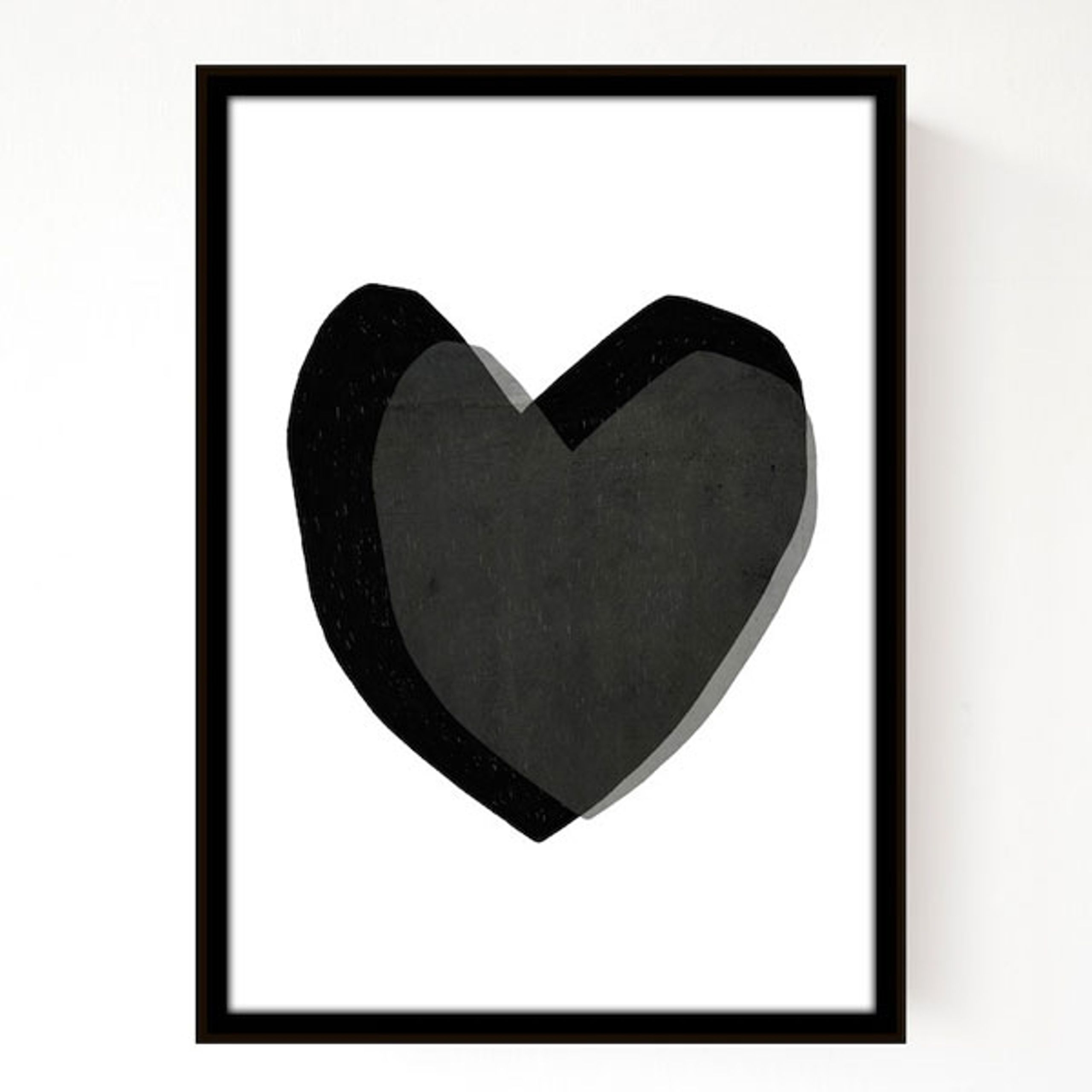 Image of   Layered Hearts 30X40