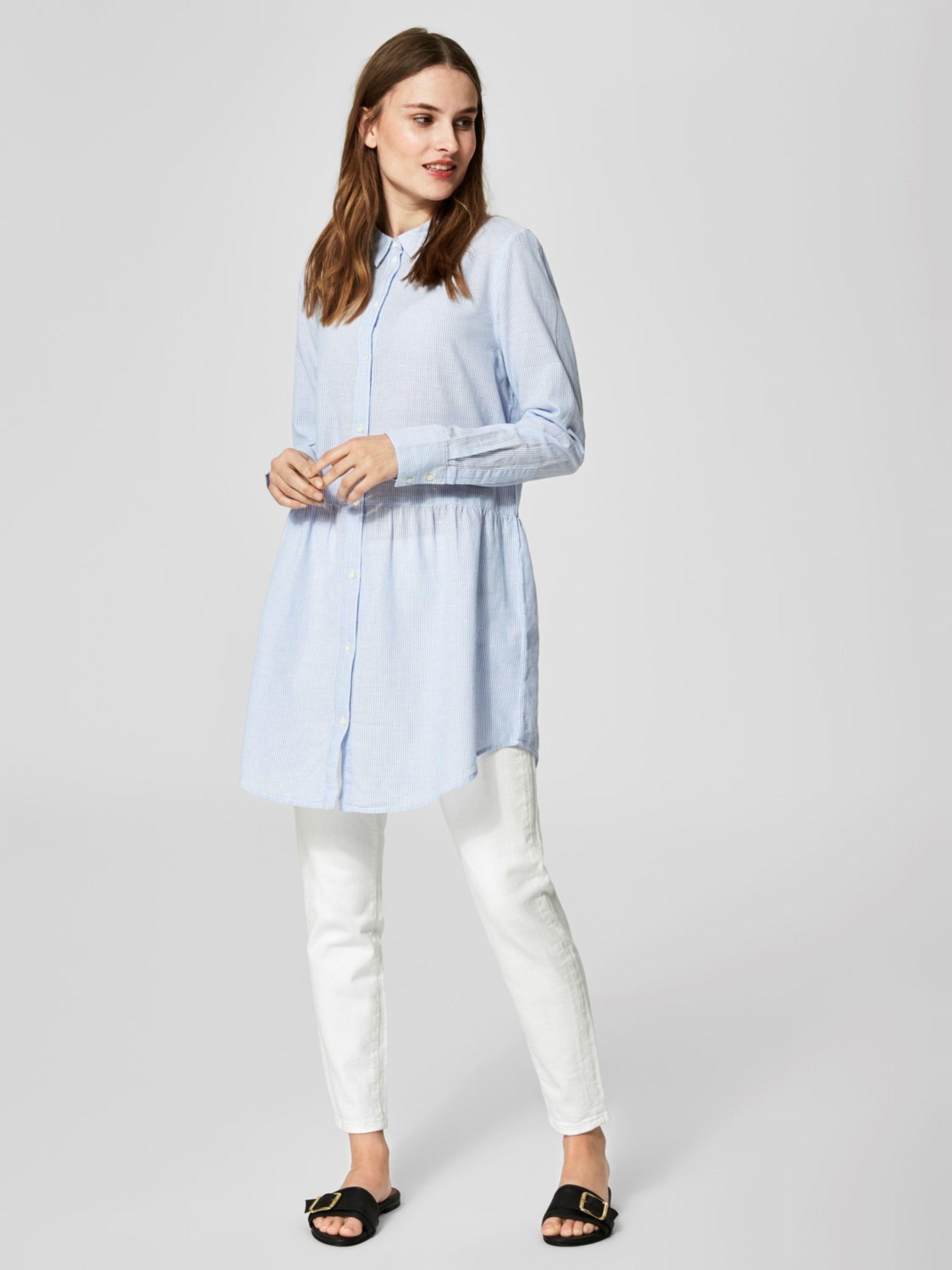 Tania Long Shirt Dress Selected Femme
