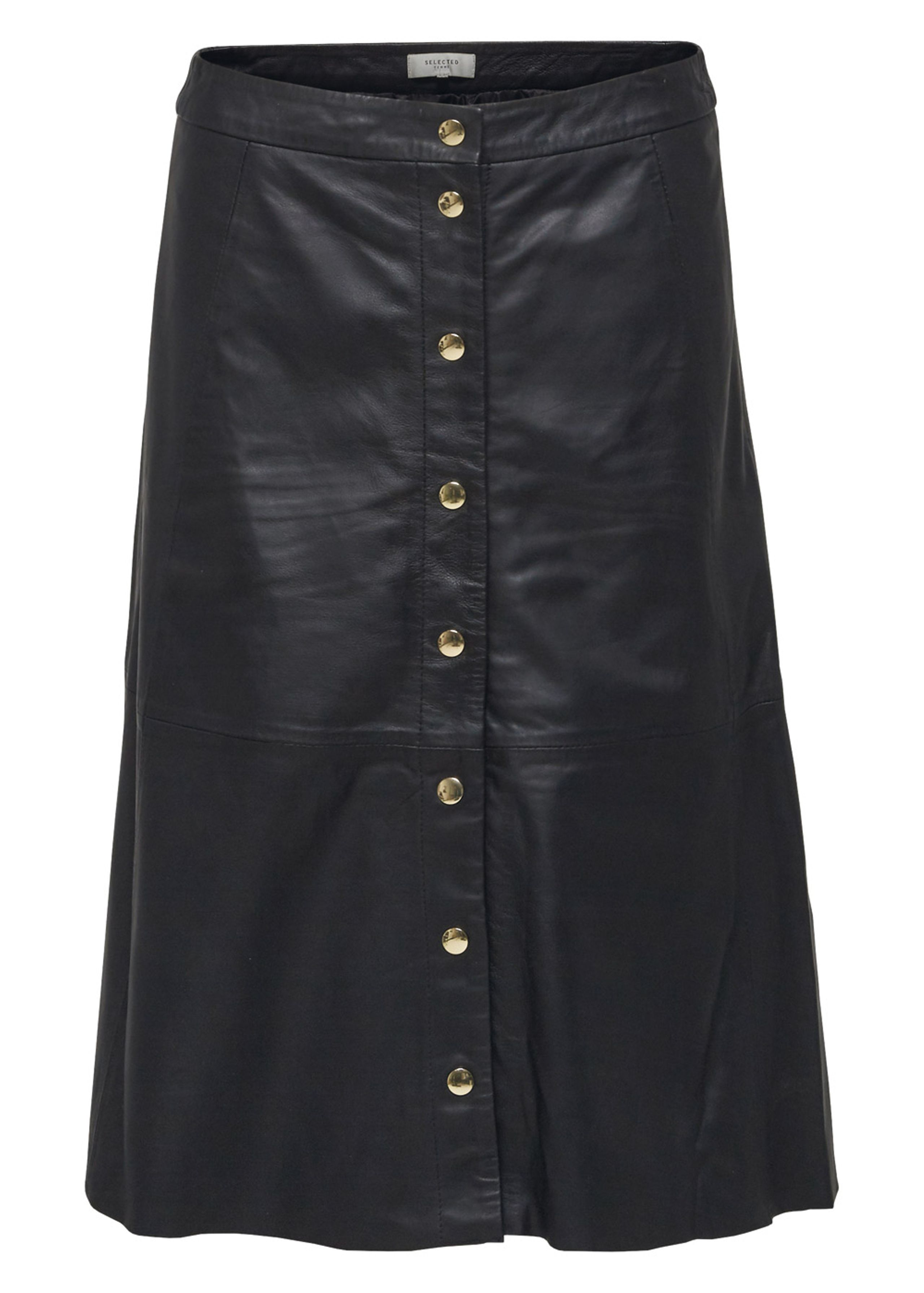Image of   Sonja High Waist Leather Skirt