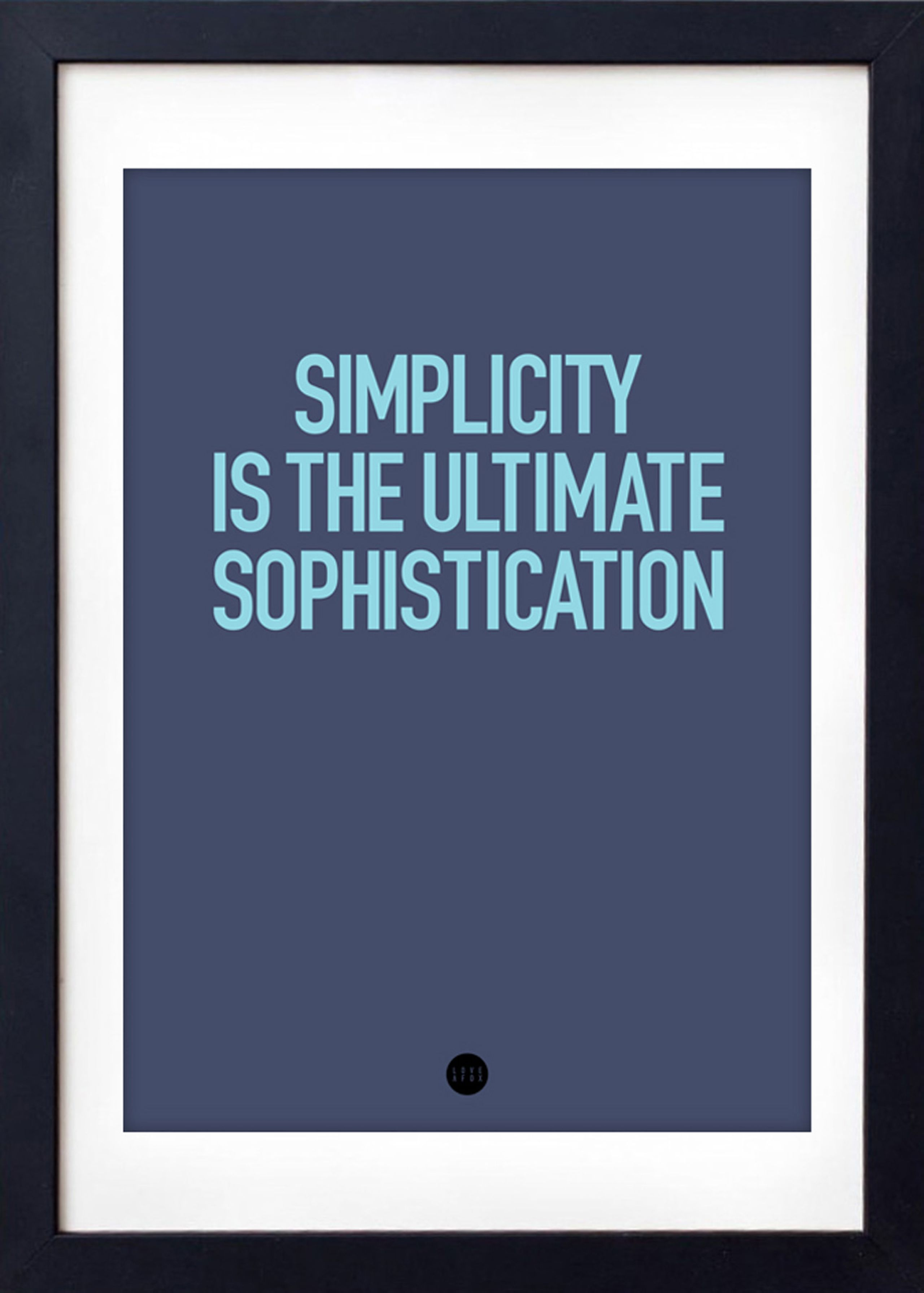Image of   Simplicity Poster