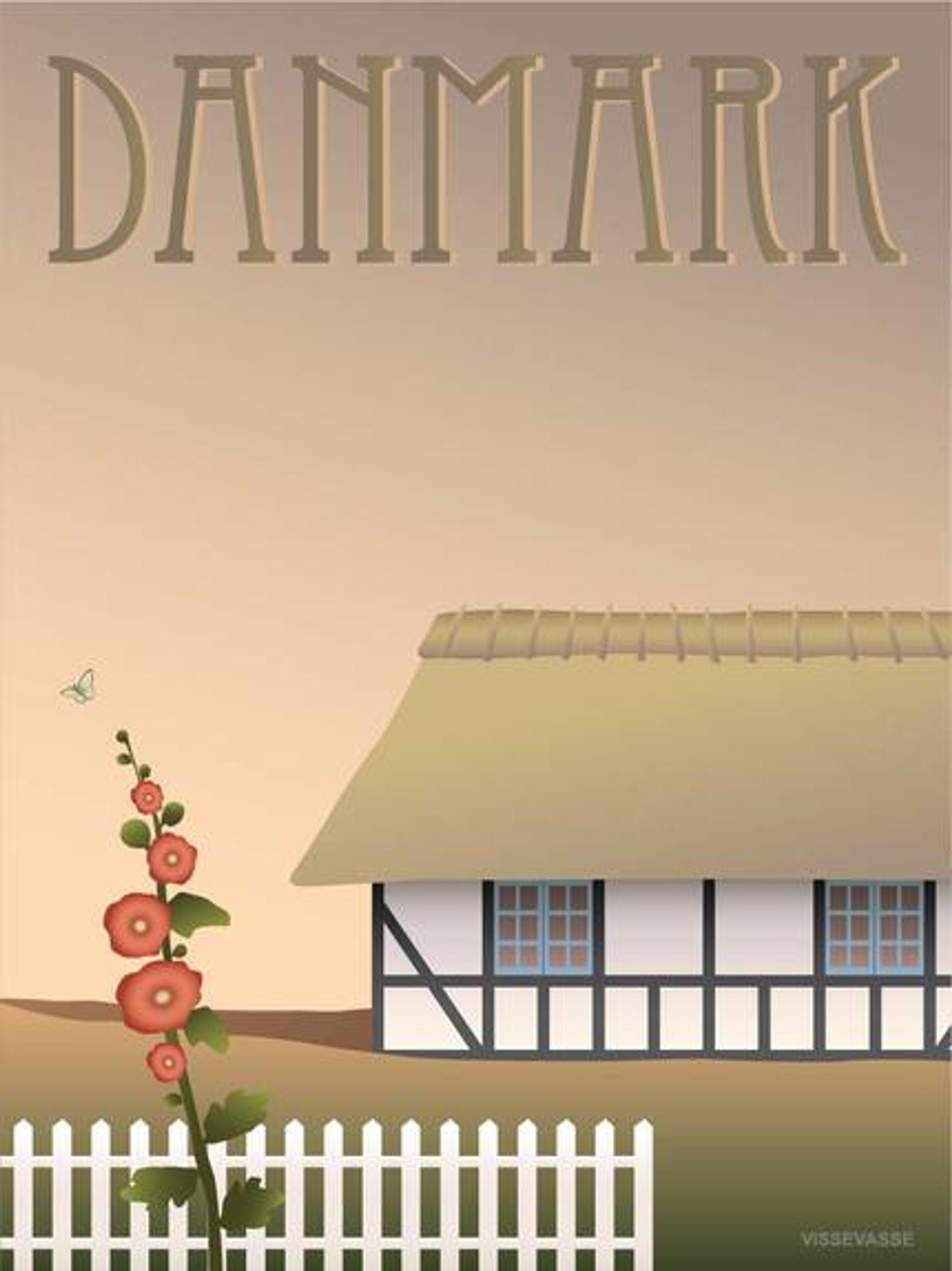 Image of   DANMARK Bondehuset - plakat