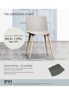 Andersen Furniture - Stol - Tac Chair Plast - Isblå/Eg
