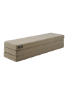 By KlipKlap - Mattress - KK 3 fold w. buttons (180 cm) - Warm grey w. light peach buttons