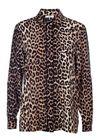 Ganni - Skjorte - Fayette Silk Shirt - Leopard
