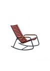HOUE - Rocking chair - CLIPS Rocking Chair Bamboo Armrest - Black/Paprika