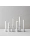 Lyngby Porcelæn - Lyseholder - Kronelysestage - Hvid Med Rifler 11 cm