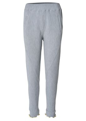 2nd One - Bukser - Miley Ruffle - 042 Grey Melange
