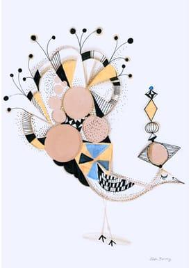 Sofie Børsting - Poster - A3 Bird Elegance - Print