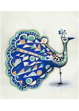 Sofie Børsting - Poster - A3 Blue Peacock - Print