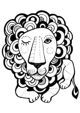 Sofie Børsting - Poster - A3 Graphic Lion - Print