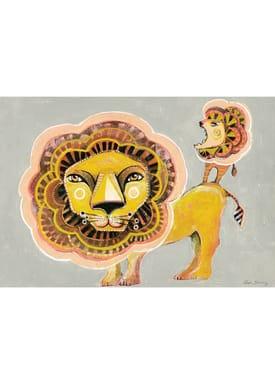 Sofie Børsting - Poster - A3 Lion Family - Print