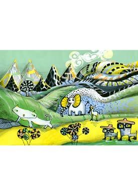 Sofie Børsting - Poster - A4 Fantasy Landscape - Print