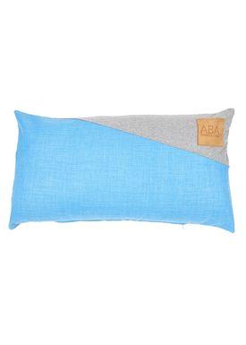 ABA - Design & Lliving - Cushion - A pillow - Skyblue / Light Grey