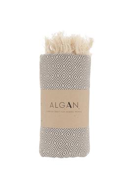 ALGAN - Håndklæde - Elmas Hamamhåndklæde - Grå