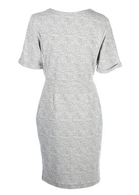 An Ounce - Dress - Fandy Jersey Flower Dress - Light Grey w. Pattern