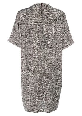 An Ounce - Dress - Gonas Dress Silk - Burdundy Multi Print