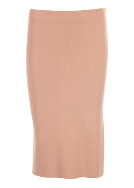 An Ounce - Nederdel - Farina Knit Skirt - Pale Peach