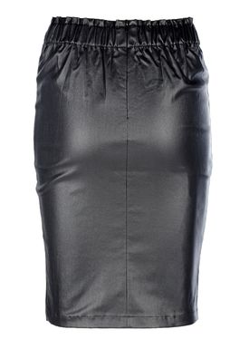 An Ounce - Top - Faith Coated Skirt - Black