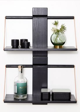 Andersen Furniture - Shelf - Wood Wall Shelf - Medium - Black