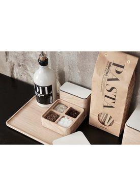 Andersen Furniture - Office - Create Me - Box Small Oak 2 Compartment