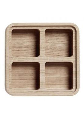 Andersen Furniture - Office - Create Me - Box Medium Oak 4 Compartments