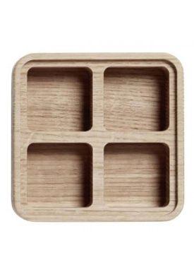 Andersen Furniture - Office - Create Me - Box Medium Oak 4 Compartments
