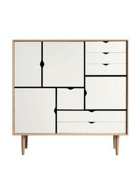 Andersen Furniture - Skænk - Andersen Furniture S3 - Eg/Sæbe Med Hvide Fronter